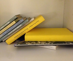 yellow, book, and aesthetic image