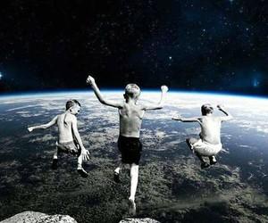 earth, galaxy, and jump image