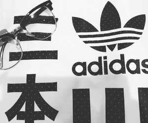 adidas, fashion, and monochrome image