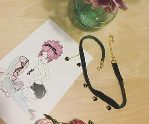 accessories, choker, and heart image