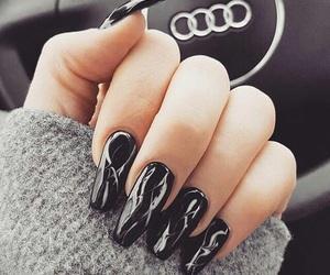 nails, black, and luxury image