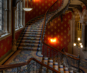 stairs, steampunk, and architecture image