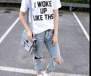 jeans, style, and outfit image