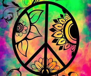 peace, wallpaper, and colorful image