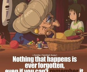 anime, spirited away, and quote image