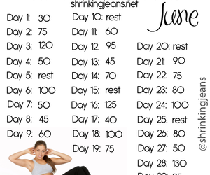 workout, fitness, and crunch image