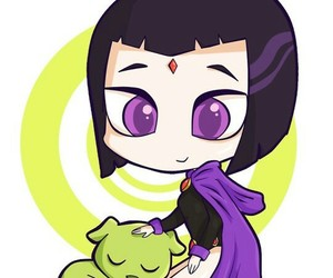chibi, raven, and teen titans image