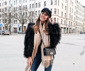 brunette, girl, and outfit image