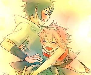 sasusaku, sasuke uchiha, and sakura haruno image