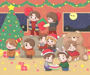 Chen, christmas, and exo image