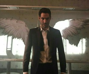 lucifer, angel, and tom ellis image