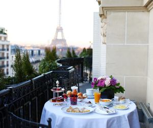 breakfast, dior, and eiffel tower image
