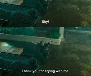 cry, quotes, and rain image