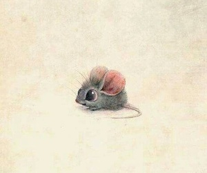 mouse, cute, and drawing image