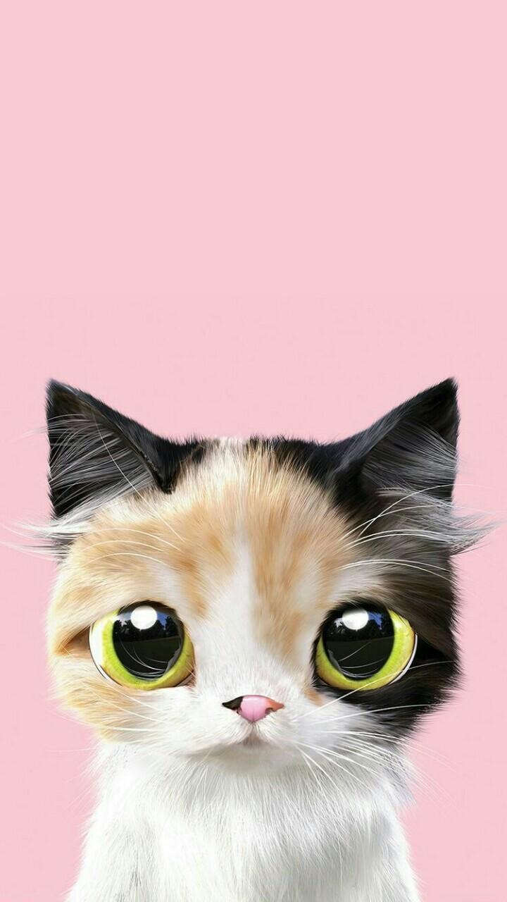 Animals Art Baby Cat Background Beautiful Beauty Cartoon Cat Cute Baby Cute Cat Design Drawing Hearts Illustration Iphone Kawaii Kitty Pastel Wallpapers We Heart It Pink Background Art Cat Beautiful Art Pastel