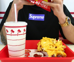 food, supreme, and in-n-out image