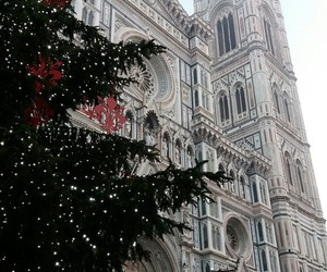 cathedral, christmas, and firenze image