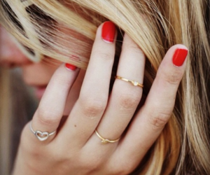 rings, nails, and red image