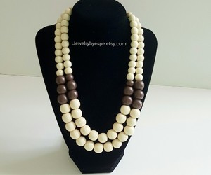 beach, brown, and necklaces image