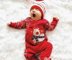 baby, christmas, and deer image