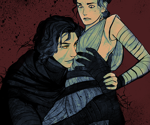 reylo, rey, and kylo ren image