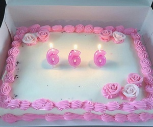 cake, pink, and 666 image