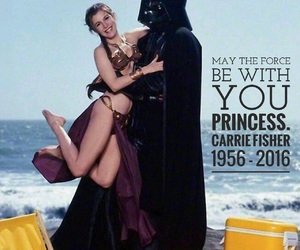 rip, carrie fisher, and Princess Leia image