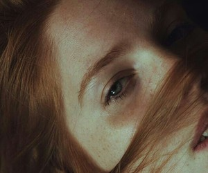 eyes, girl, and redhead image