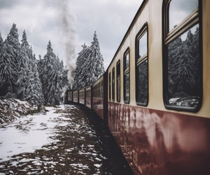 snow and train image