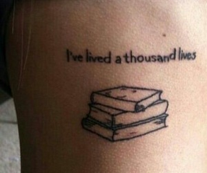 book, tattoo, and life image