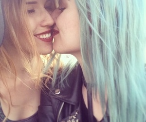 lesbian, love, and girls image
