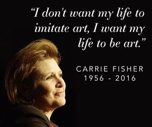carrie fisher, quote, and star wars image