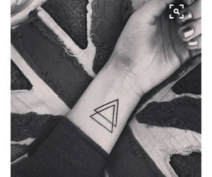 tattoo, triangle, and tatto image