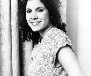 actress, carrie fisher, and star wars image