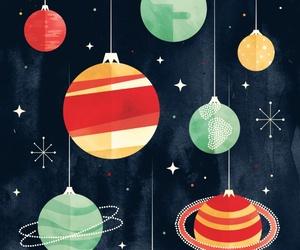 christmas, decoration, and planets image