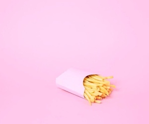 pink, food, and fries image