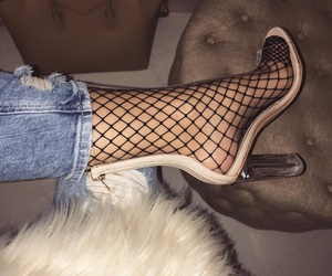 fashion, fishnet, and shoes image