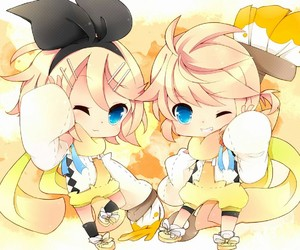 rin, vocaloid, and len image