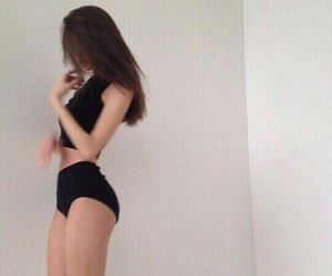 girl, thin, and black image