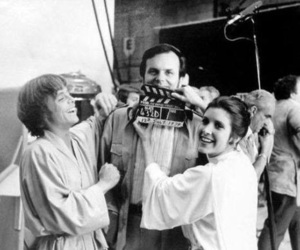 star wars, luke skywalker, and carrie fisher image