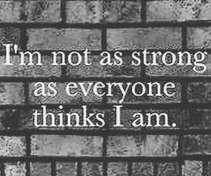 strong, quotes, and depression image