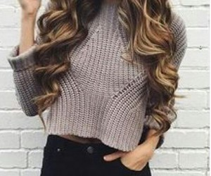 fashion, girl, and jumper image