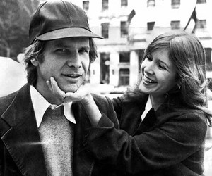 carrie fisher, harrison ford, and star wars image