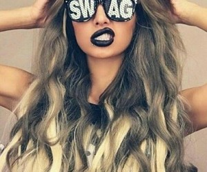 black, hair, and swag image
