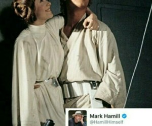 carrie fisher, star wars, and mark hamill image