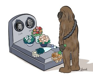 carrie fisher, Princess Leia, and chewie image