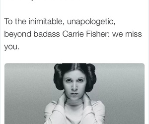 carrie fisher, rest in peace, and rip image
