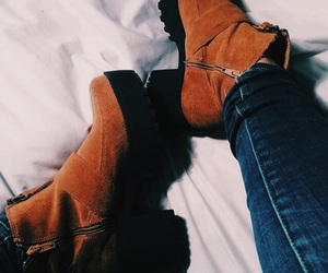 boots, brown, and tumblr image