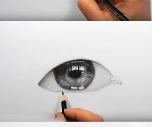 sketch, drawings, and eye image
