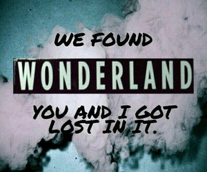 wonderland, Taylor Swift, and Lyrics image